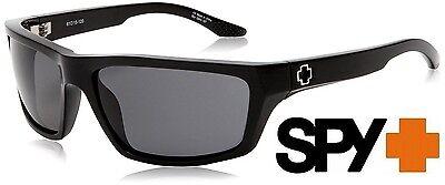 Spy KASH Sunglasses Shiny Black with Grey Lenses (Spy Sunglasses Lenses)