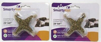 SmartyKat Compressed Catnip Cat Toy Zip Nip 2 Count