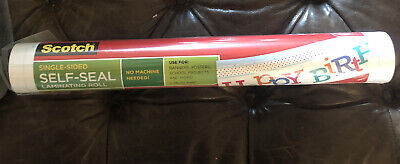 Scotch Self-seal Laminating Sheets Single Sided 16-inches X 10-foot Roll