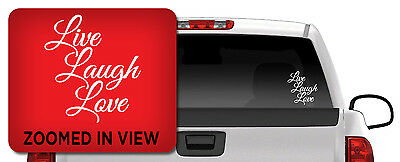 LIVE LAUGH LOVE VINYL DECAL STICKER WINDOW WALL CAR LAPTOP FAMILY (Live Laugh Love Wall Decals)