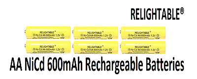 6 pcs Rechargeable NiCd AA 600 mAh Batteries for Solar-Power