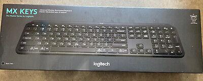 Logitech - MX Keys Advanced Wireless Illuminated Keyboard - Black