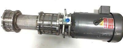 New Gusher Msc4-6-500fj-b Coolant Water Pump 5hp Motor 230v 460v 3 Ph 25125ss