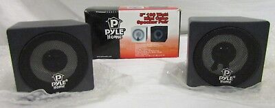 "Pyle Home 3"" 100 Watt Mini Cube Speaker Pair PCB3BK Pair Black for sale  Shipping to India"