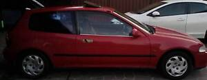 1993 Honda Civic Hatch Automatic , red with sunroof Cabramatta Fairfield Area Preview