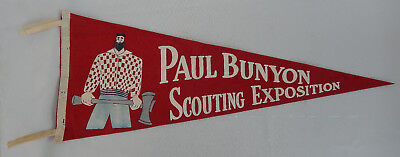 Vintage Paul Bunyan Scouting Exposition Felt Pennant