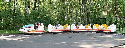 Space Train Amusement Park Ride