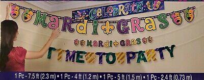 Mardi Gras Supplies (MARDI GRAS 4 pc Banner Set Party Decorations Party)
