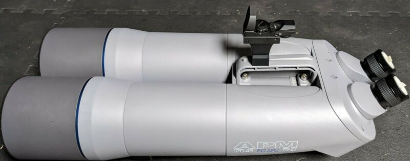 APM 120 SD 45 deg Binocular Telescope + Eyepieces + Case
