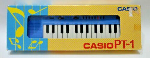 Vintage CASIO PT-1 Mini Keyboard Electronic Musical Instrument w/Original Box
