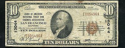 1929  10 Bank Of America Nat  Trust   Savings Assoc  San Francisco  Ca  13044