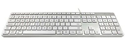 Apple MAC Multimedia Wired USB Keyboard - Silver Case