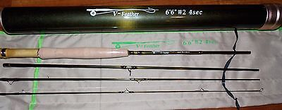 2WT 6.5FT 4Pieces  Fly Fishing Rod  & Carbon Rod Tube FREE 3 DAY DELIVERY (2wt 3 Piece)