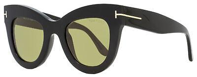 Tom Ford Cateye Sunglasses TF612 Karina-02 01N Black 47mm (Tom Ford Cat Eye Sunglasses)