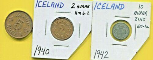 ICELAND - THREE BEAUTIFUL HISTORICAL 1940