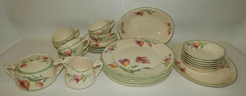 Vintage W.S. George Argosy Ivory French Tulip Dinnerware China Lot