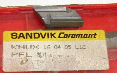 Lot Of 5 New Sandvik Indexable Turning Carbide Inserts Knux 160405l12 S1p P10