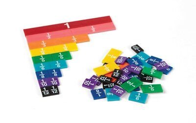 ETA Cuisenaire Rainbow Fraction Tiles Set 264HB Manipulatives Hand2Mind
