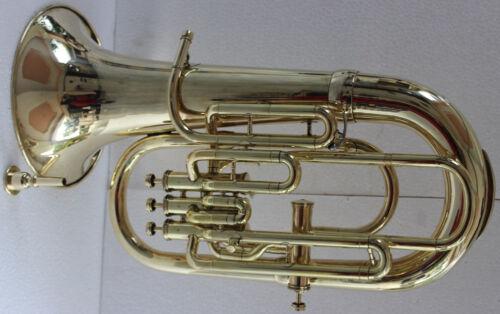New Brass SHINNING 4 Valve Bb/F Euphonium Free Case+M/P