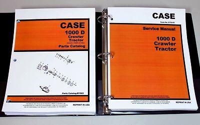 Case 1000d Crawler Tractor Service Repair Manual Parts Catalog In Binder