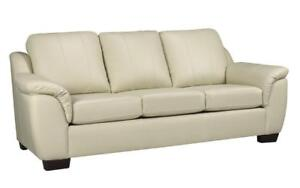 Leather White Sofa  (AC06)