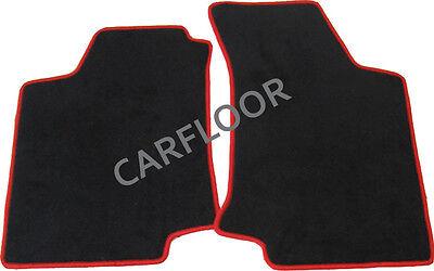 Für Mercedes SLK R172 Bj. ab 3.11 Fußmatten Velours  schwarz mit Rand rot