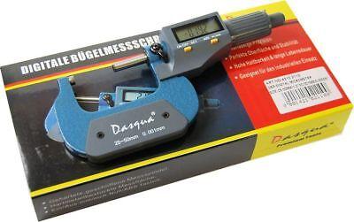 """Dasqua 25-50 mm / 1-2"""" Digital Micrometer (Ref: 42102110) Lifetime Guarantee"""