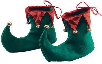 Weihnachtselfen Schuhe grün-rot NEU - Zubehör Accessoire Karneval Fasching