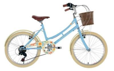 """Elswick Cherish 20"""" Kids Girls Bicycle Heritage Outdoor Bike Blue/Cream 2019"""