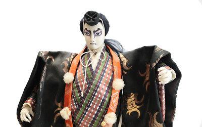 Mid Century Japanese Ningyo Musha Kabuki Silk face doll Benkei Warrior Monk for sale  Gardena
