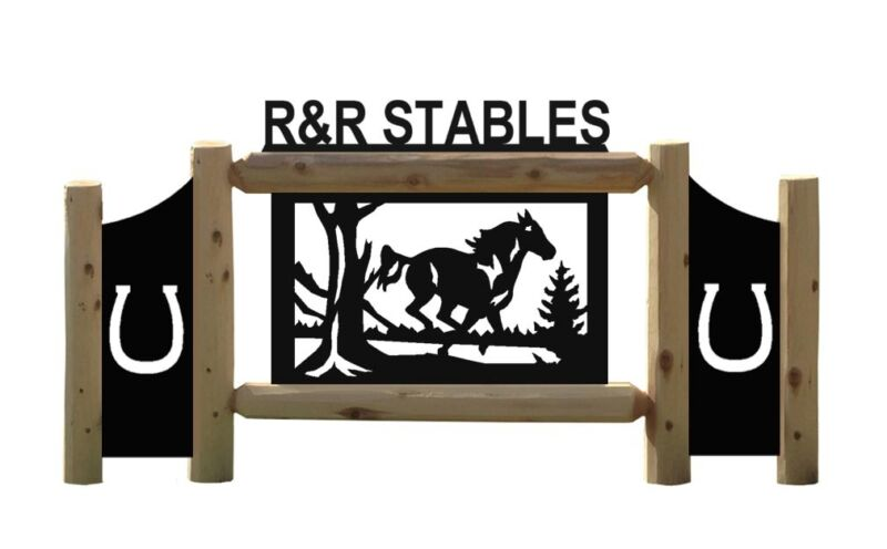 HORSE SIGNS - EQUESTRIAN - FARM AND RANCH SIGN