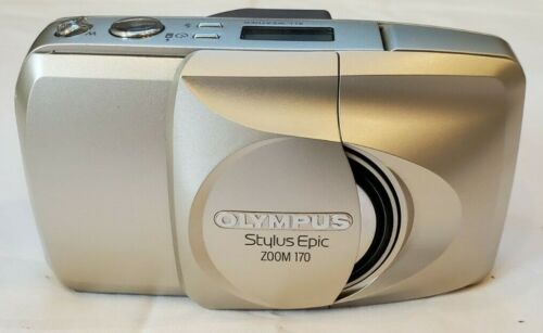 Olympus Stylus Epic Zoom 170 QD 35mm Point & Shoot Film Camera with Case