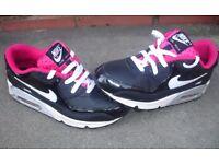 Nike Air Max 90 2007 (GS) Voltage Cherry 345017-003 SIZE 5.5 UK WOMEN'S GIRLS