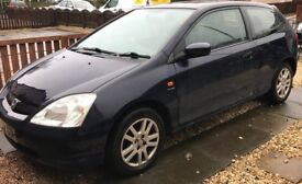 **SOLD** Honda Civic 1.6 VTEC SE Sports 3dr Petrol - MOT till July - High Mileage