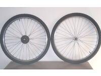 wheelset 26 x 1.95 +tyres+inner tubes