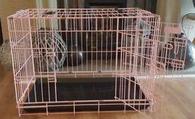 Dog Crate - Medium in Pink