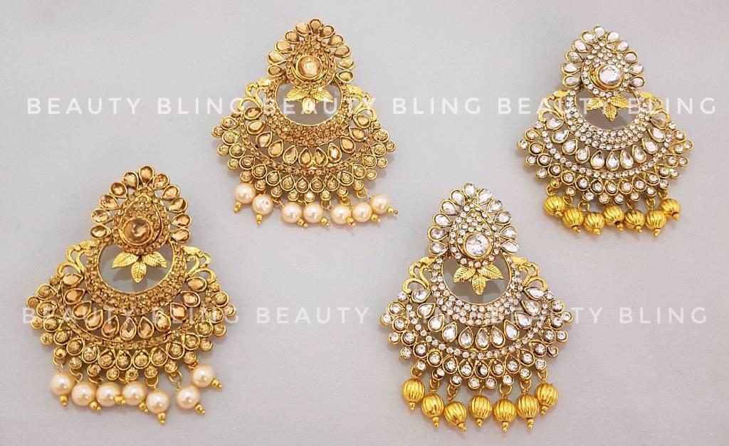 Lightweight bead earrings. Indian Jewellery. FREE UK DELIVERY.