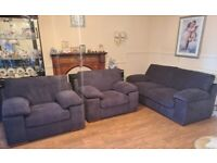3 Seater Deluxe Sofa Bed with 2 Loveseats