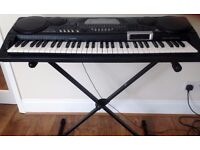 Casio Electronic Keyboard with Stand and Cover plus Yamaha Book/CD learn how to play keyboard
