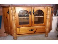 Mexican pine TV cabinet.