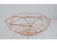 Geometric Copper Wire Basket Fruit Basket