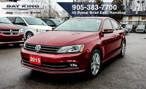 2015 Volkswagen Jetta 1.8 TSI HIGHLINE, SUNROOF, NAVI, HTD LEATH