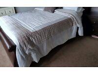 kingsize leather sleigh bed frame