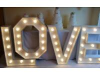 Giant love letters for HIRE!