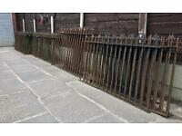 100 year old iron church railings (200ft)