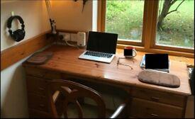 Solid Pine Executive Desk