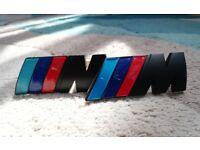 BMW M Badges (Black) - Grille and Boot M Sport Badges