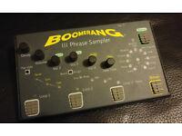 Boomerang III phrase sampler looper effects pedal like new guitar bass 3
