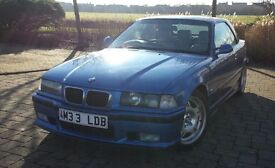 1997 BMW E36 M3 3.2 Evolution Convertible Estoril Blue, stunning condition