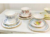 Tea Cup Trios Blue
